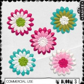 Digital Scrapbooking Commercial Use - In Bloom 3 Flowers
