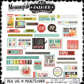 Digital Scrapbooking - Real Life in Pockets - Candid Word Art