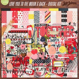 Digital Scrapbooking - Love You To The Moon And Back