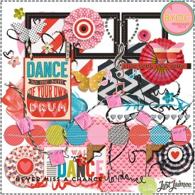 Digital Scrapbooking - Dance Your Dance BYOC 2014 Element Pack