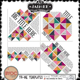 Digital Scrapbooking - BYOC October 2014 - Tri-Me Templates
