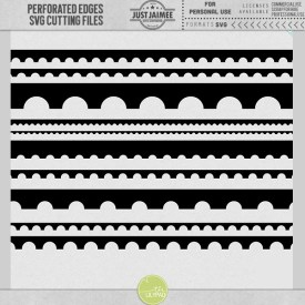 Digital Scrapbooking - Perforated Borders SVG cutting files