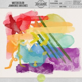 Digital Scrapbooking - Watercolor Jamboree Brushes