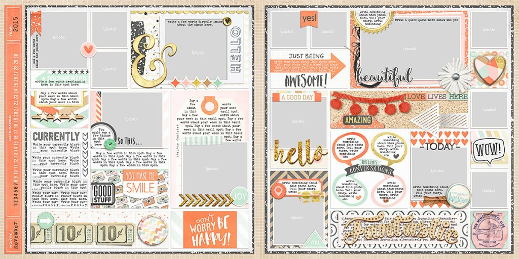 Ready-to-go Pocket Page Templates week 45