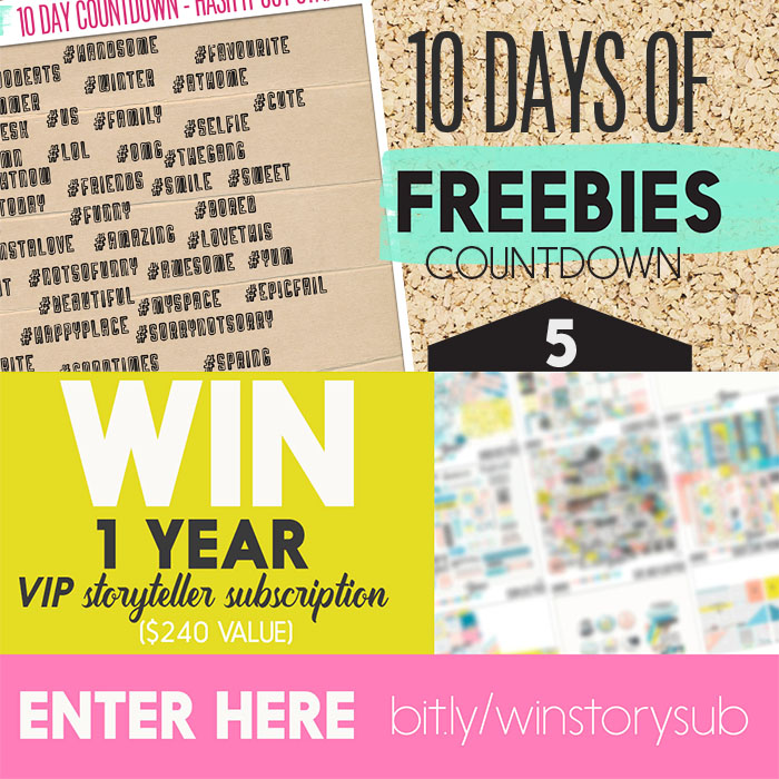 Chance to win Digital Scrapbooking / Hybrid Storyteller Subscription