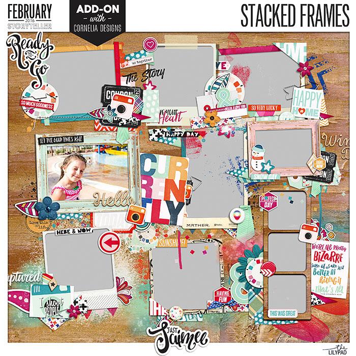 Stacked Frames Digital Scrapbooking