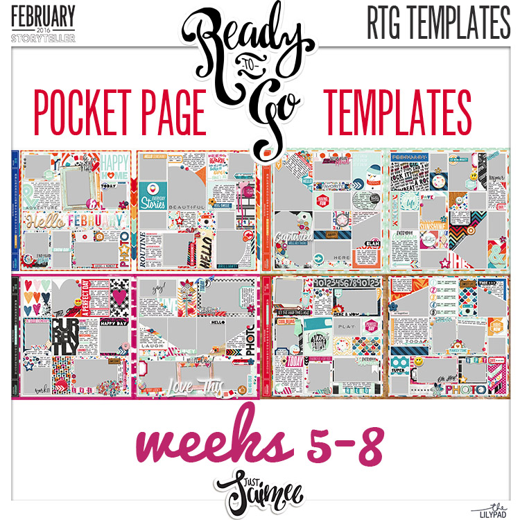 Ready To Go Pocket Page Templates