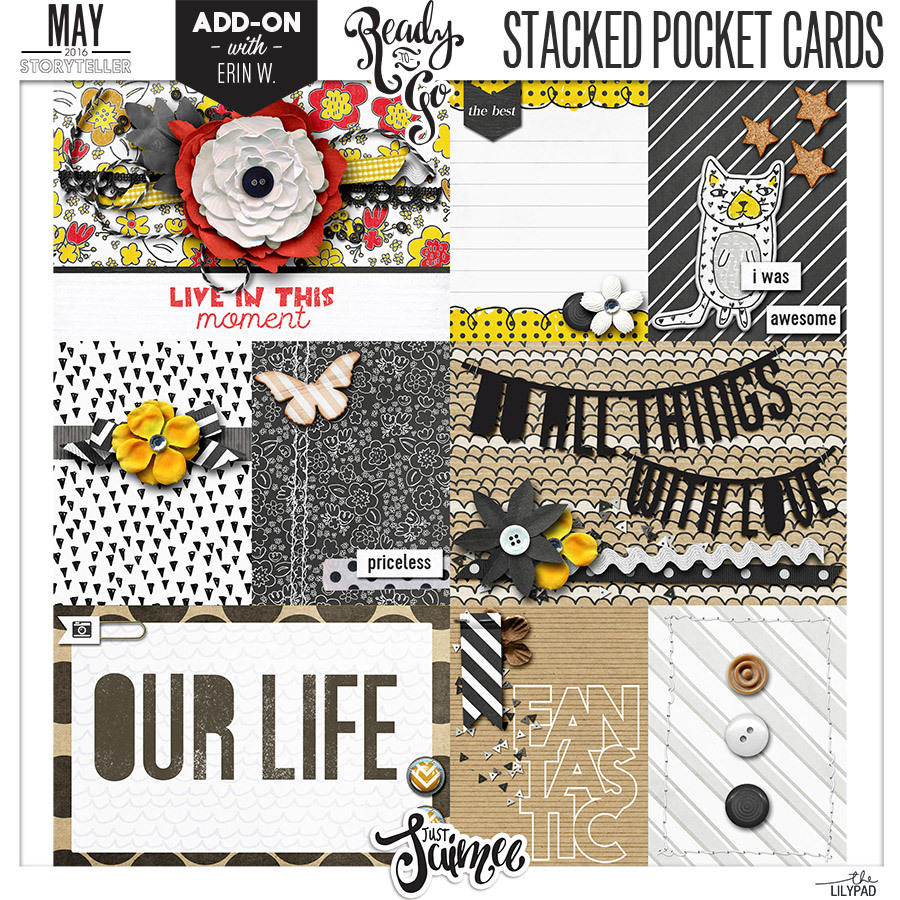 Stacked Pocket Cards