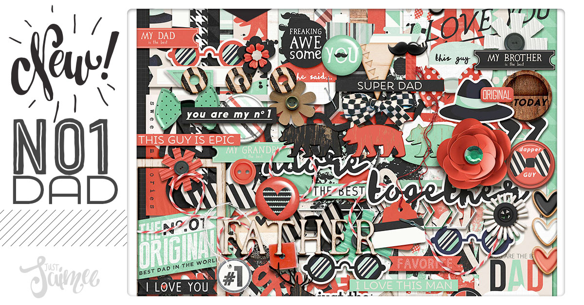No 1 Dad Digital Scrapbooking Kit