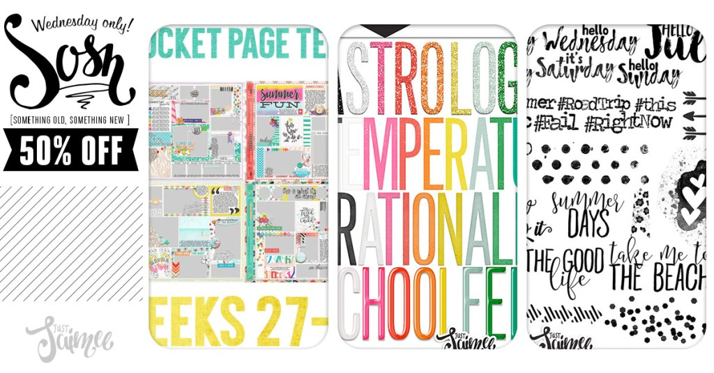 50% off Ready-To-Go Pocket Page Templates and July Stamps & Styles!