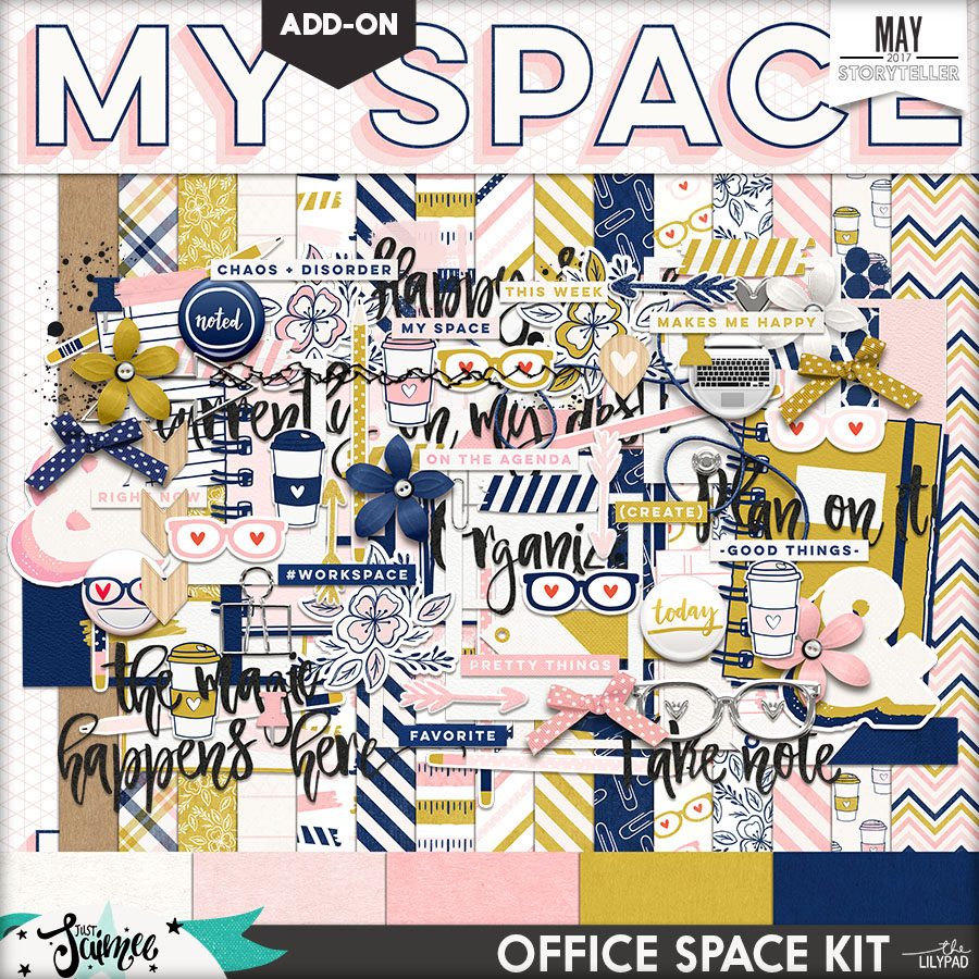 Office Space Digital Scrapbook Kit Storyteller Add-on