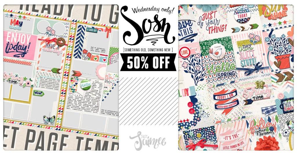 SOSN – 50% off deals today!