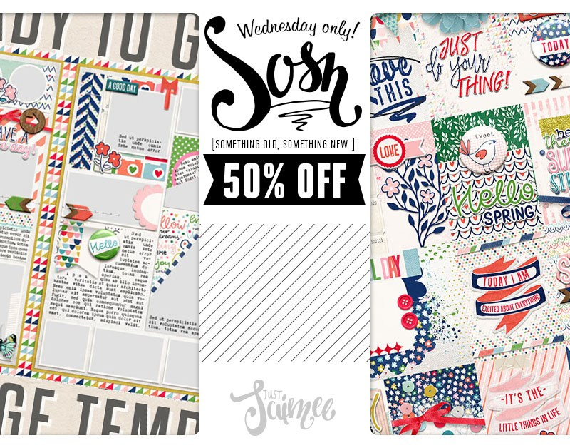 SOSN – 50% off deals today!