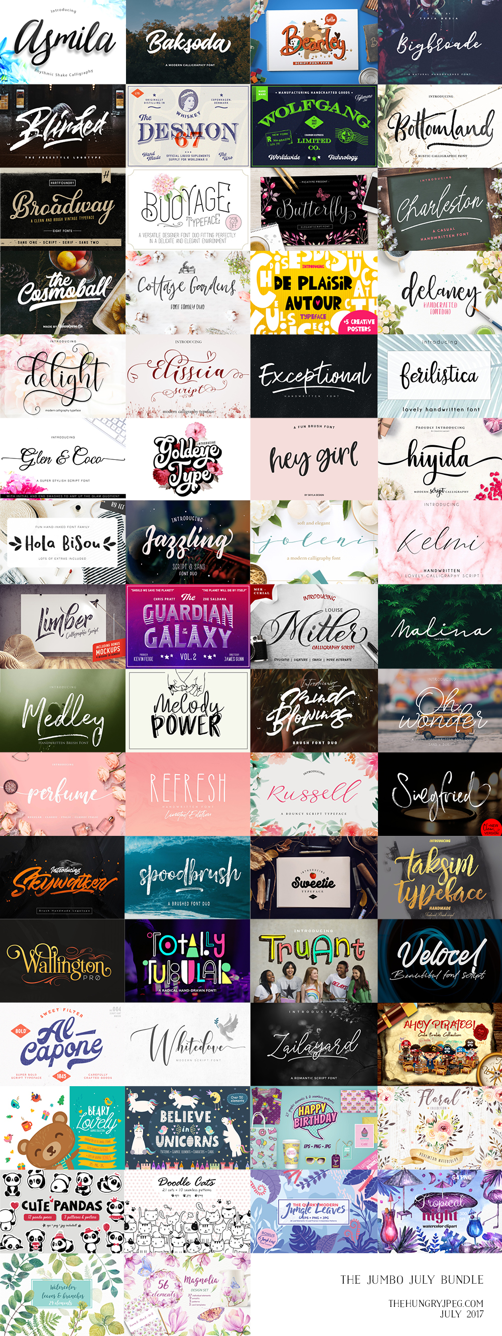 July Font Bundle