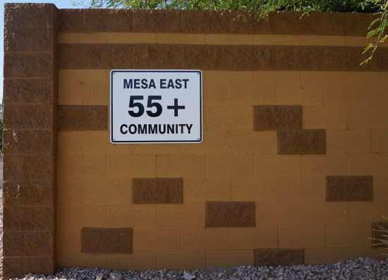 Welcome to Mesa East 55+ community