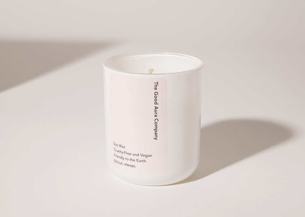 One of Lucy's Hand-poured vegan soy candles
