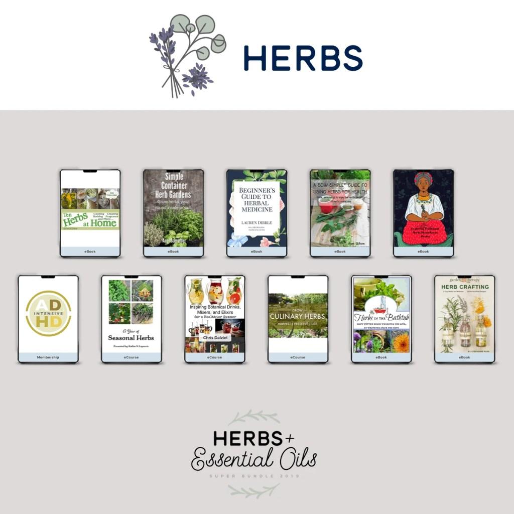 Herbs & Essential Oils Super Bundle | www.justjeslyn.com
