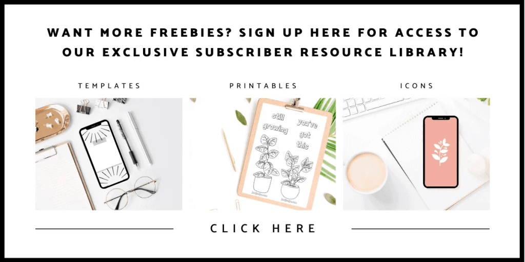Want more freebies? Exclusive subscriber resource library | justjeslyn.com