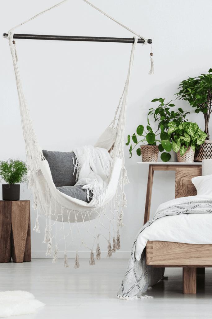 How to Create the Boho Bedroom of Your Dreams - Macrame Swing - justjeslyn.com
