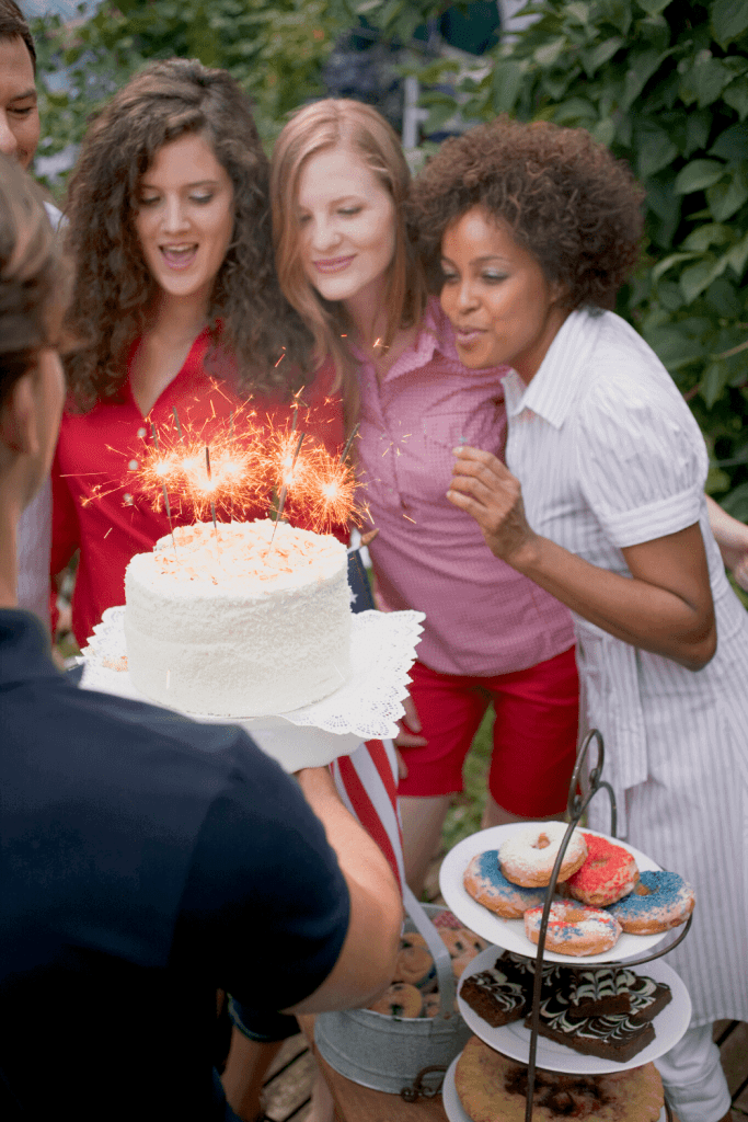 Celebrate with a super fun sparkler-topped cake! - Just Jes Lyn