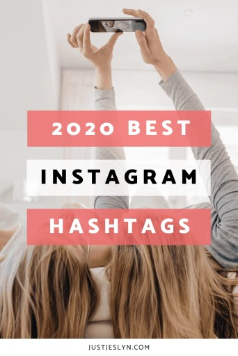 150+ Best Instagram Hashtags for Every Niche (2020) | Just Jes Lyn
