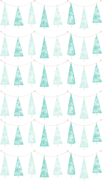 55+ Best Aesthetic Christmas Wallpaper Backgrounds | Christmas Tree Garland