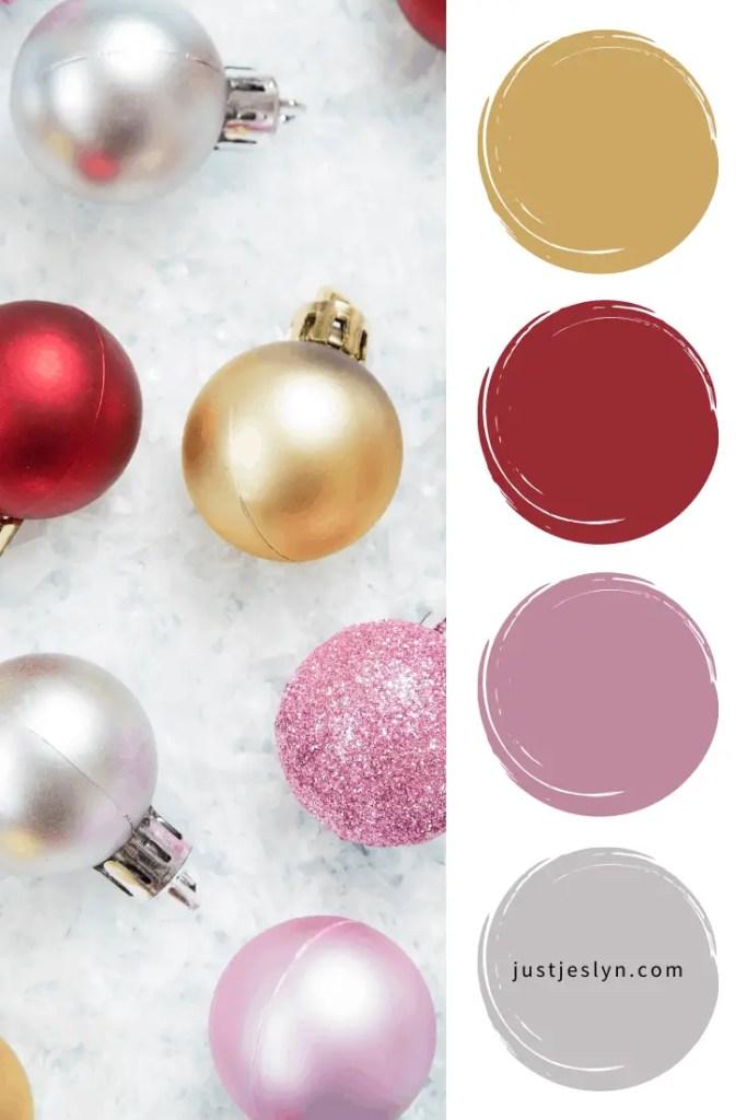 25 Unique Christmas Color Palettes (2020) | Just Jes Lyn