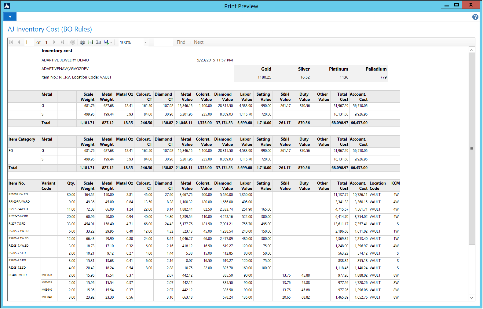 Jewelry Inventory Software