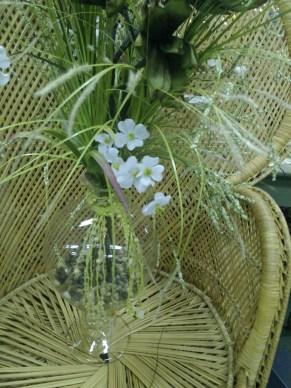 Vase with silks