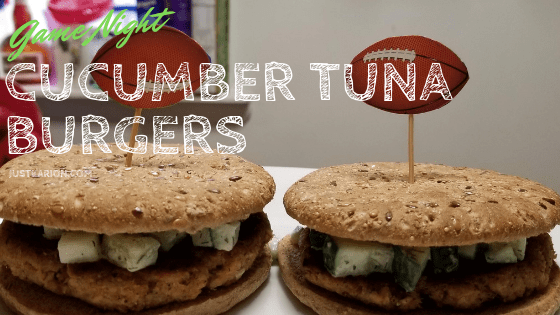 Game Night Cucumber Tuna Burgers