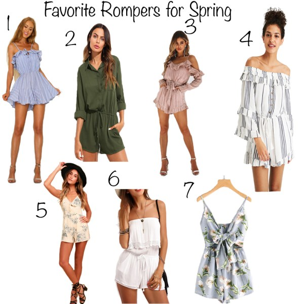 Favorite Rompers for Spring
