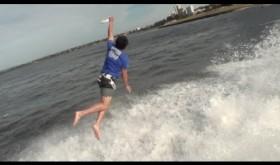 Amazing Frisbee Throw Off Australian Bridge   ThePostGame