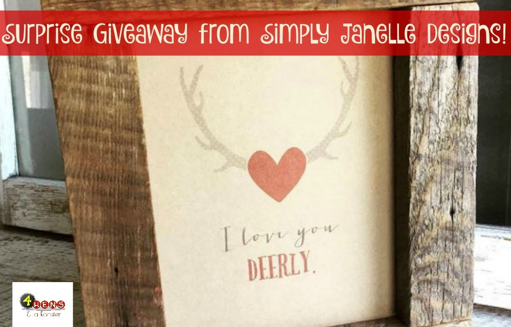 Valentine's Day Giveaway from Simply Janelle Designs