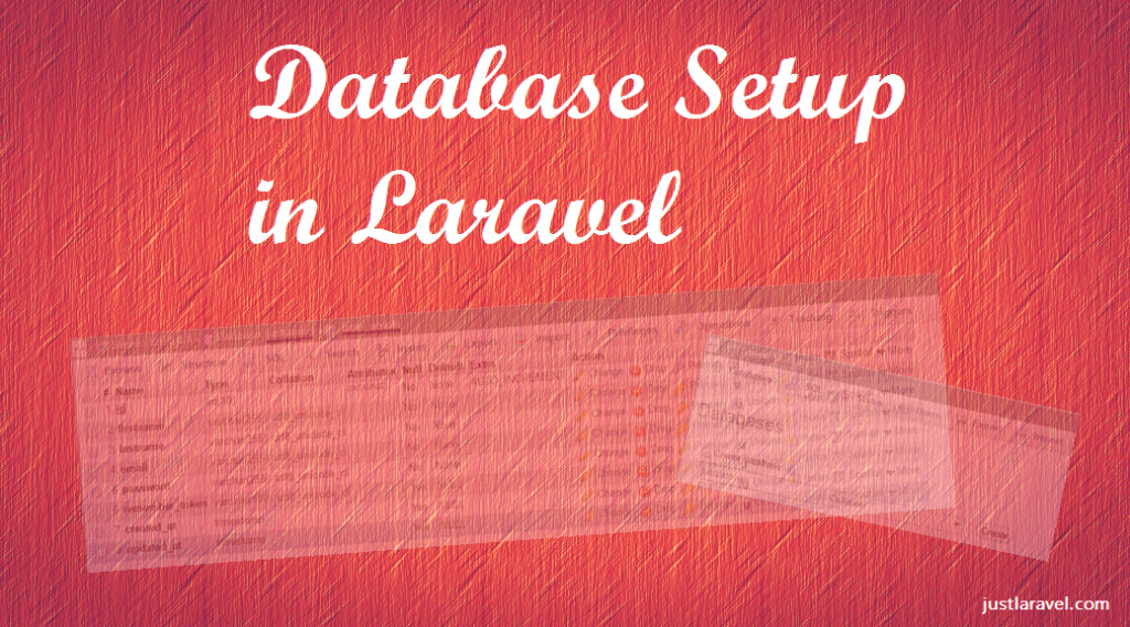 Database Setup in Laravel