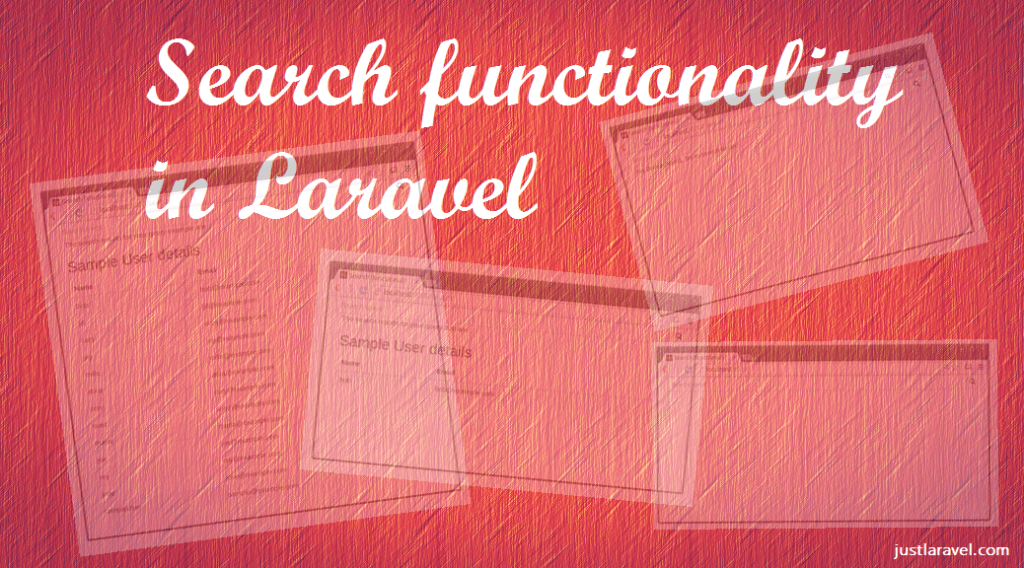Search functionality in Laravel