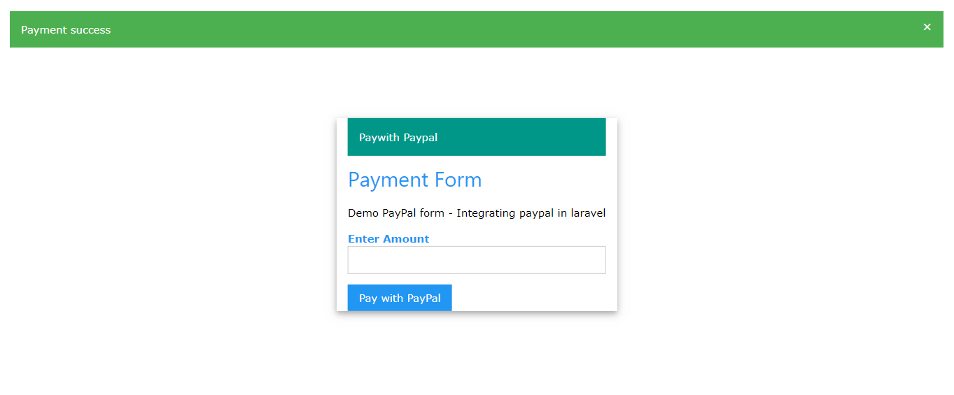 How to integrate PayPal payment gateway in Laravel - Just