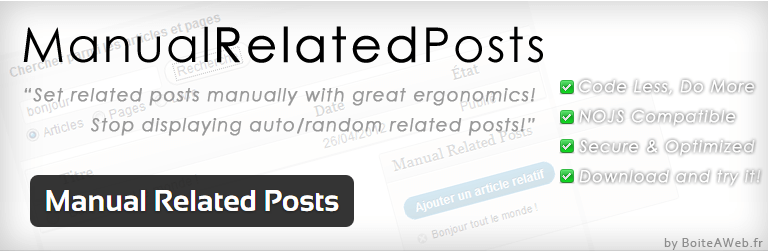 Manual Related Posts-WordPress Plugin