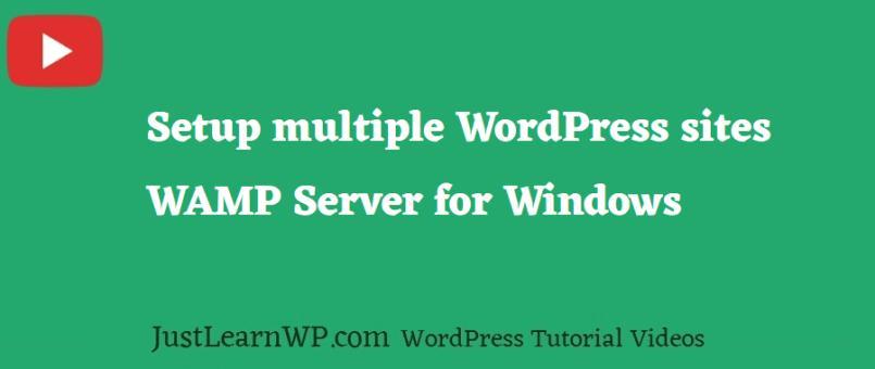 Multiple WordPress installation Using WAMP