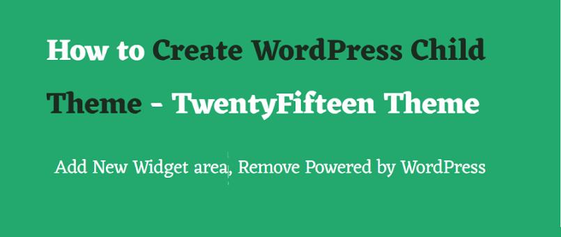 how to create WordPress child theme - 2017