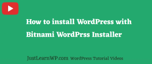 how to install wordpres with bitnami WordPress installer
