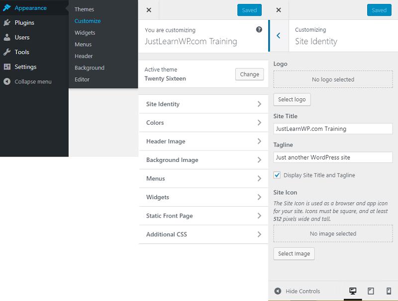 customize WordPress theme via customizer