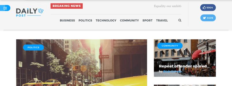 DailyPost-WordPress Magazine Theme
