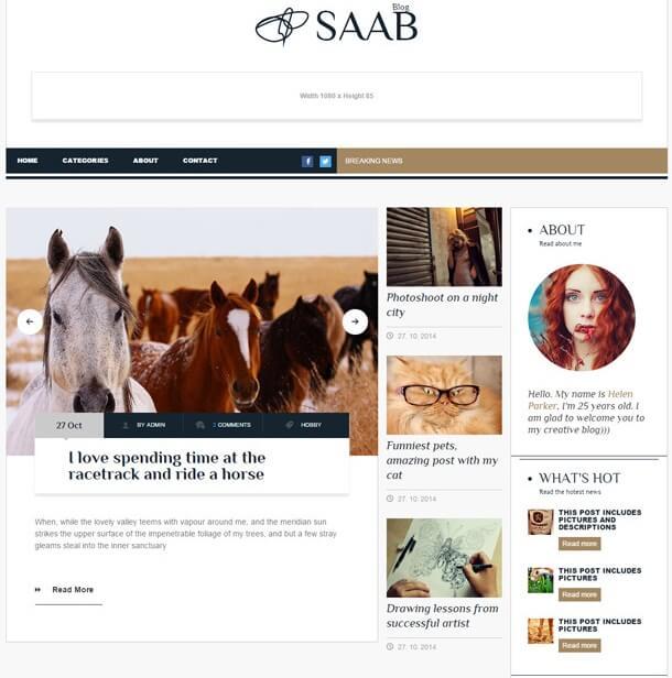 Saab Magazine WordPress theme