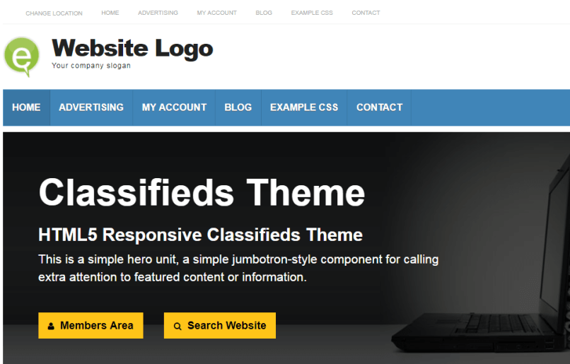 Classifieds Theme for WordPress