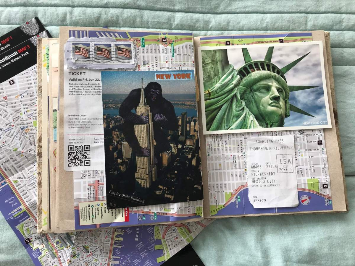 Travel Journal Ideas   Maps in a Journal