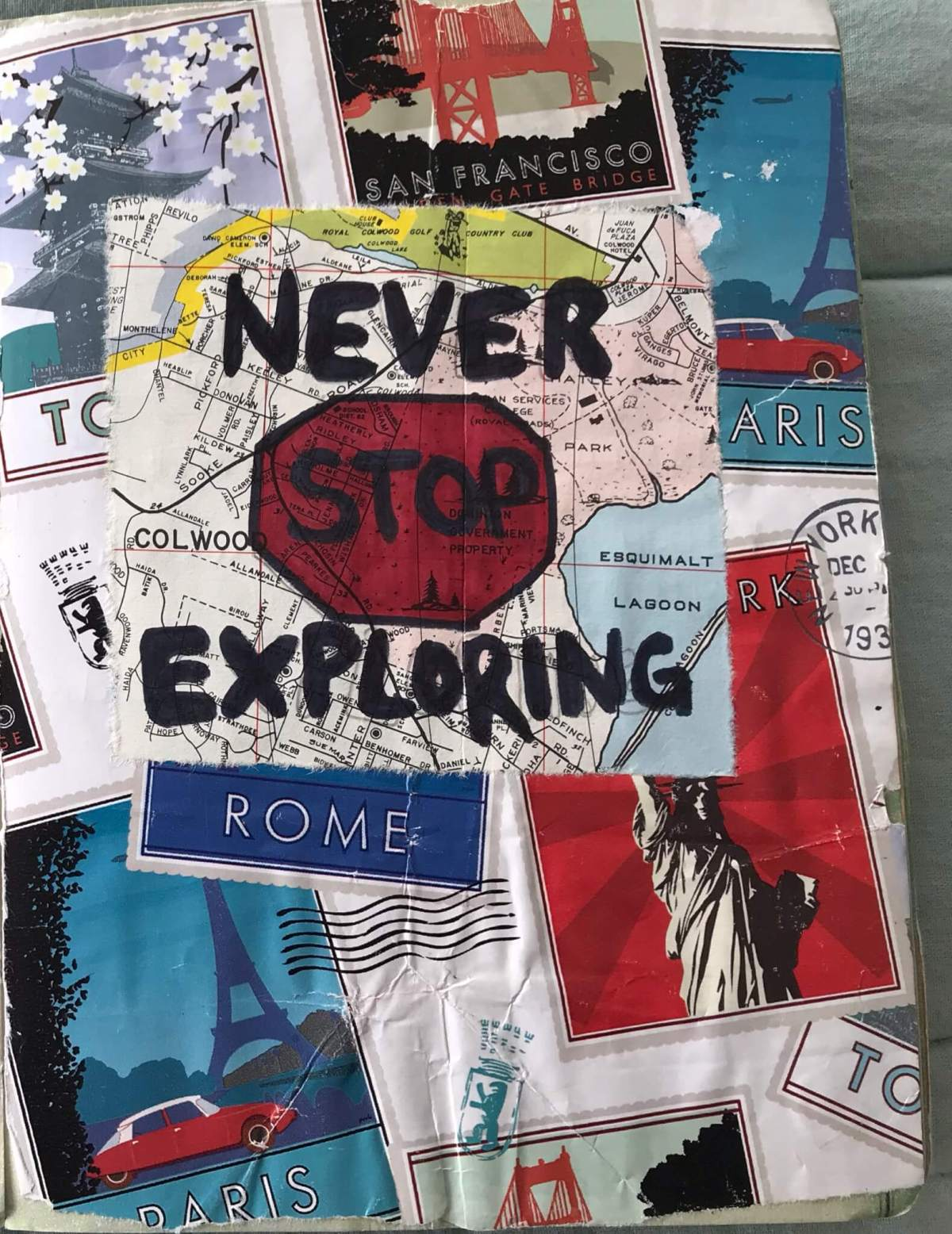 Never Stop Exploring Travel Quote | Travel Journal