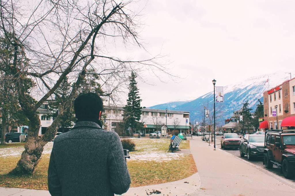 Walking through Jasper Downtown