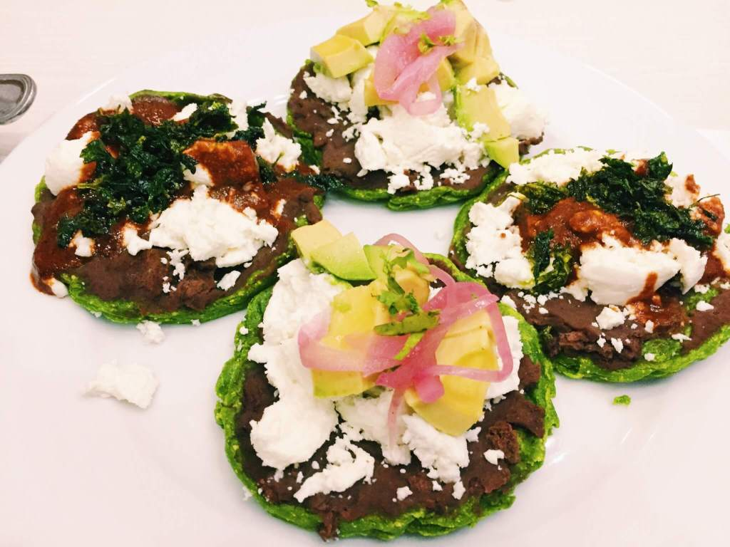 Mini green sopes with onions, avocado and beans | Vegetarian & Vegan Dishes from Around the World