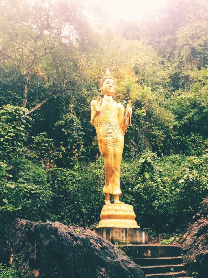 Gold Buddha in Chiang Dao