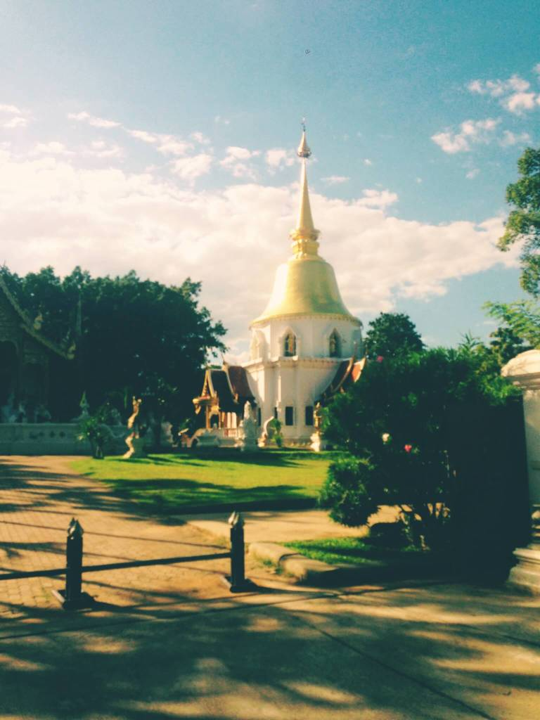 White and Gold Temple Chiang Mai Thailand